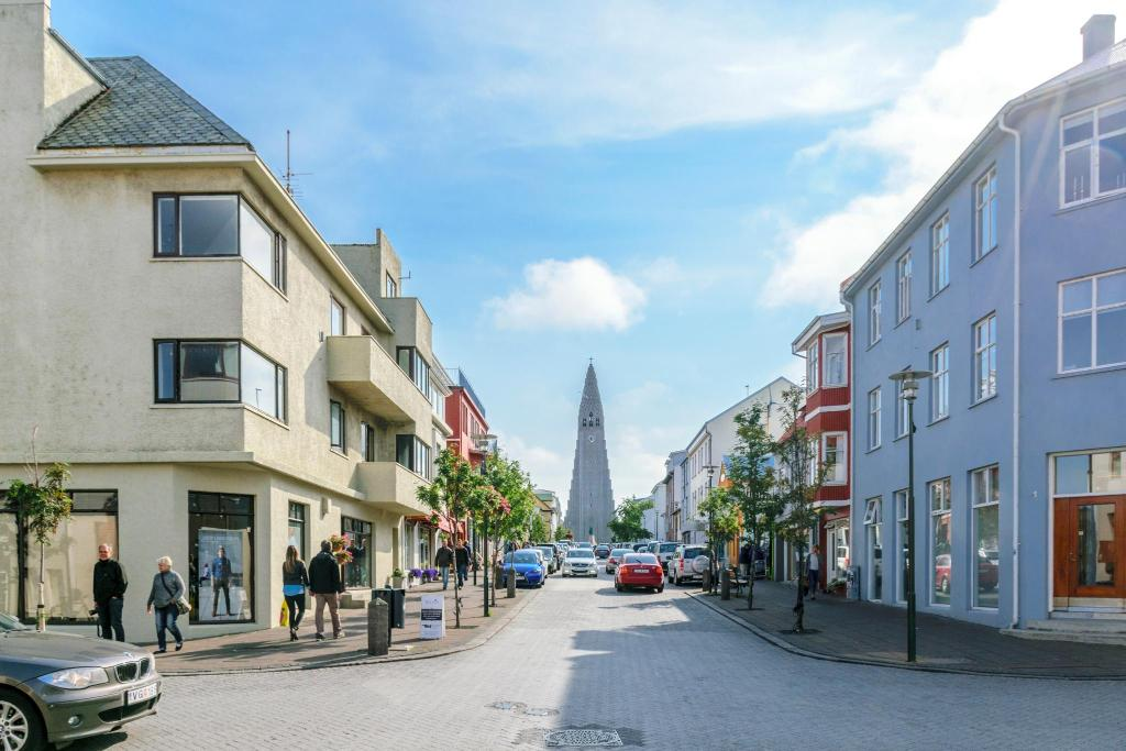 Esja Guesthouse is right by Hallgrimskirkja church in Reykjavik.
