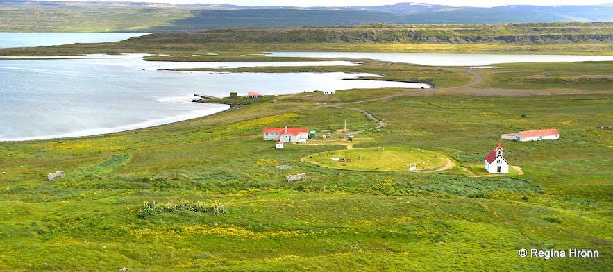 The view of Vatnsfjörður from Grettisvarða cairn