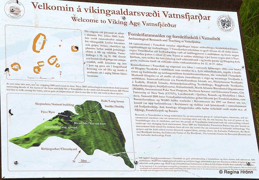 The information sign in Vatnsfjörður