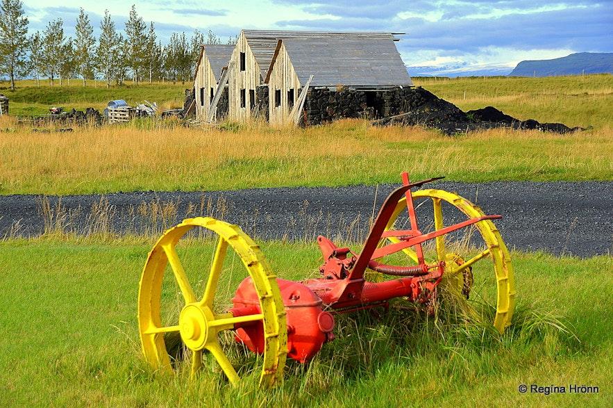 Turf house at Efri-Vík in Landbrot in South-Iceland