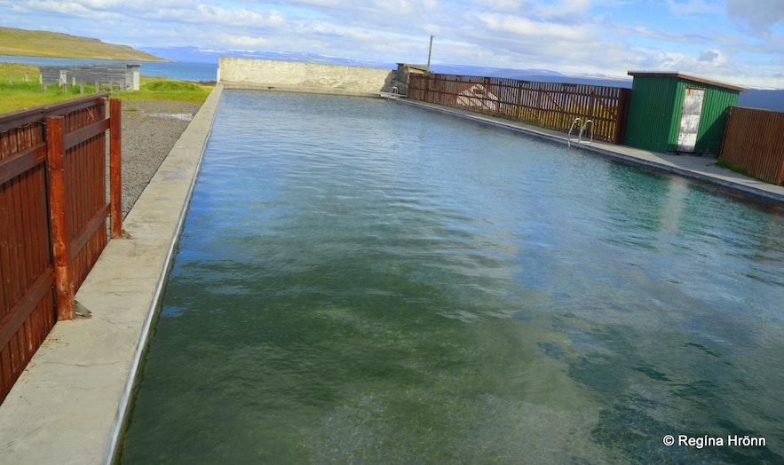 Reykjaneslaug hot swimming pool in the Westfjords