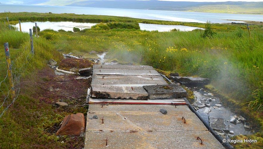 Hot spring at Reykjanes Westfjords of Iceland