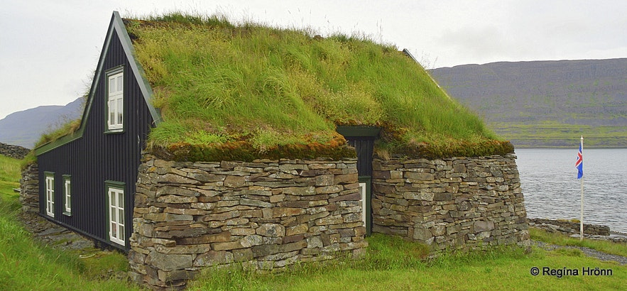 Litlibær turf house in the Westfjords of Iceland