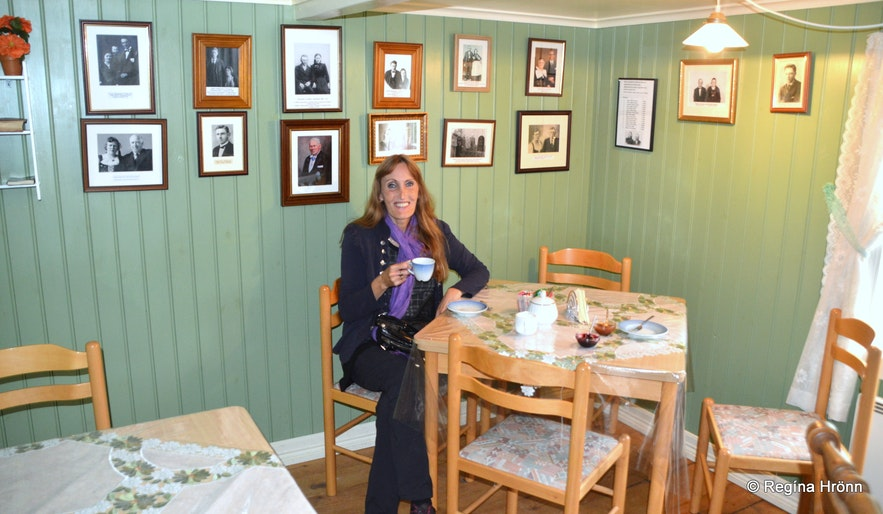 Litlibær turf house in the Westfjords of Iceland inside the café