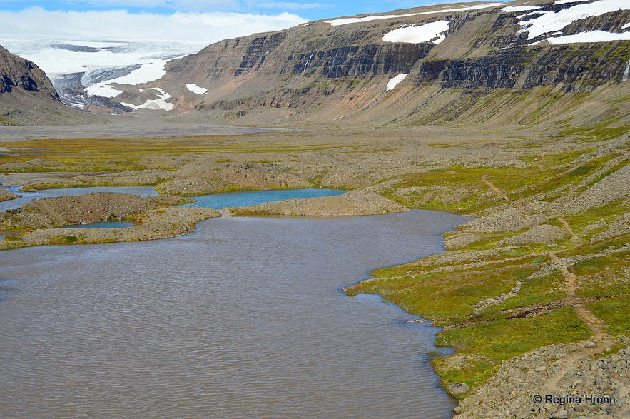 A beautiful Hike to Drangajökull glacier in the Westfjords and other Stops by Road 635