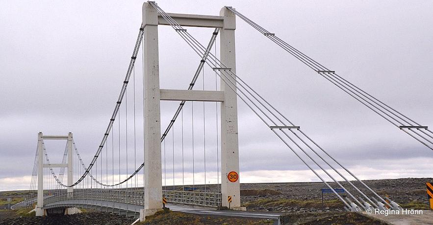 Bridge over Jökulsá á Fjöllum glacial river