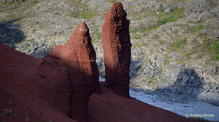 Rauðhólar in Jökulsárgljúfur canyon