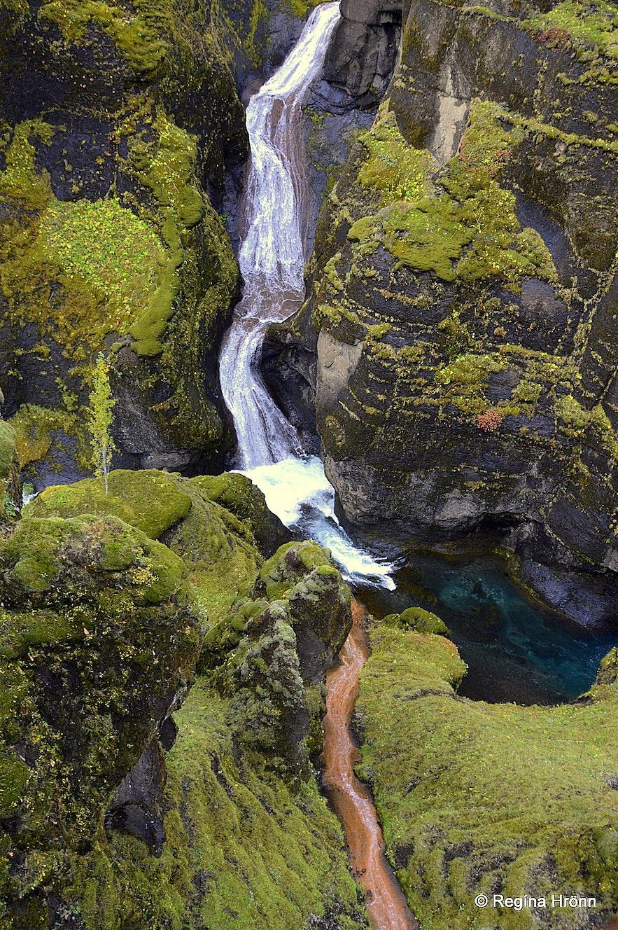 Fjaðrárgljúfur canyon South-Iceland - Mögárfoss waterfall