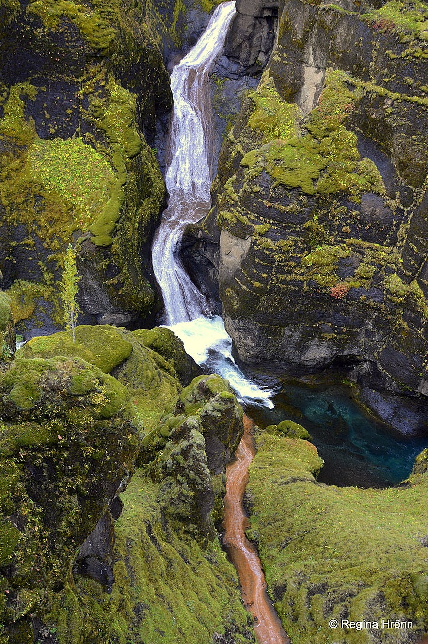 Mögárfoss waterfall in Fjaðrárgljúfur canyon
