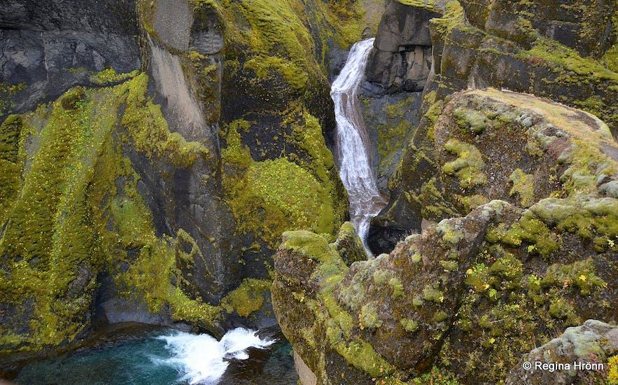 Fjaðrárgljúfur - Mögárfoss waterfall