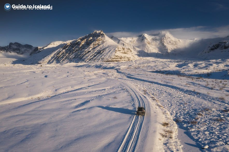 Driving the roads of the East Fjords in winter requires a four-wheel-drive.