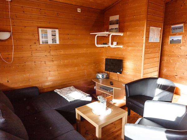 Snorrastaðir has a log-cabin feel.
