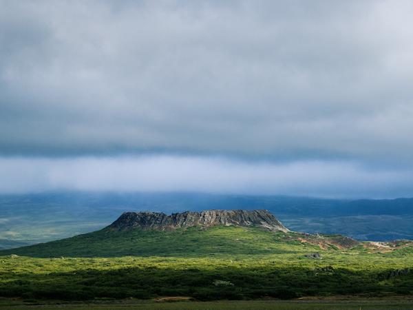 Beautiful mountain views at Snorrastaðir.