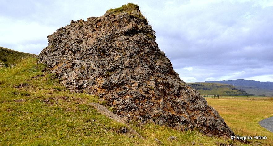 Hildishaugur burial mound Kirkjubæjarklaustur