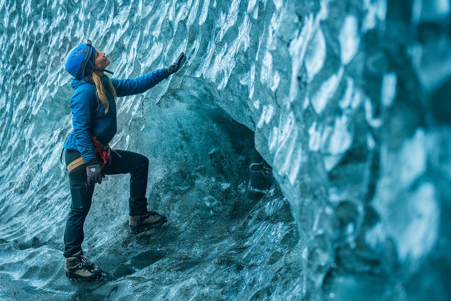 The textures of the ice caves of Iceland are mesmerising.