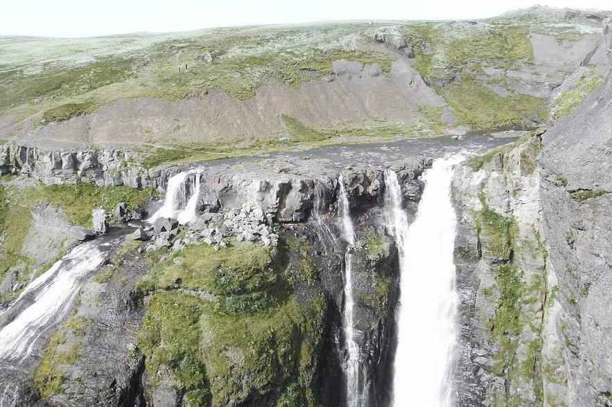 Glymur is a huge waterfall in Iceland.