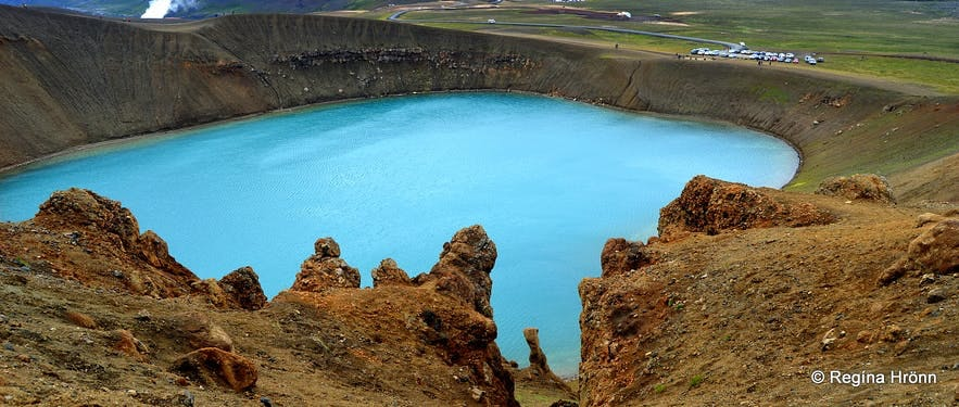 Víti in Krafla crater volcano in Iceland is a magnificent place to visit.