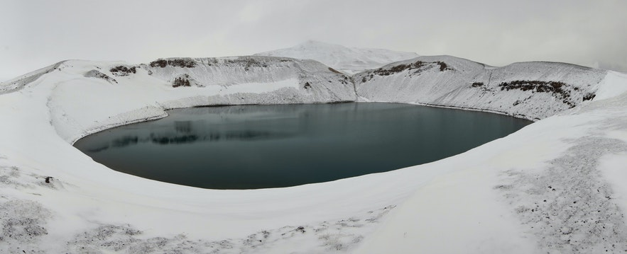 Hverjall, of Hverfell, has a lovely crater lake.