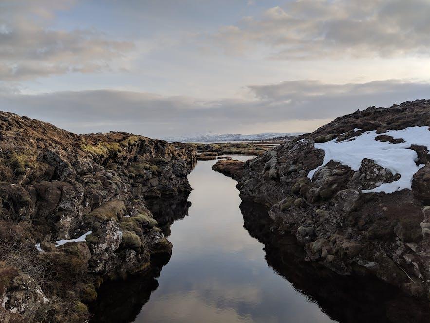 Thingvellir has many beautiful streams and springs.