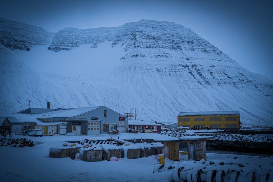 Ísafjörður is built on a spit of land jutting into the fjord.