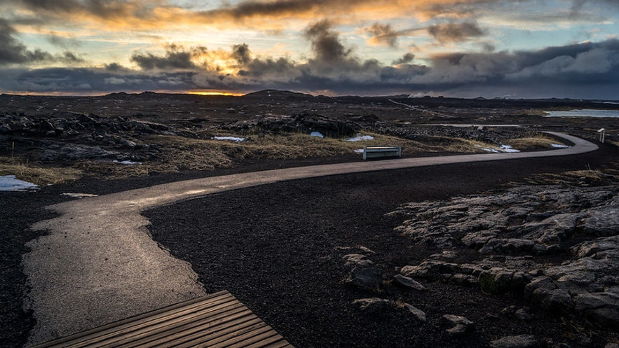 Sandvik is a beach in Iceland.