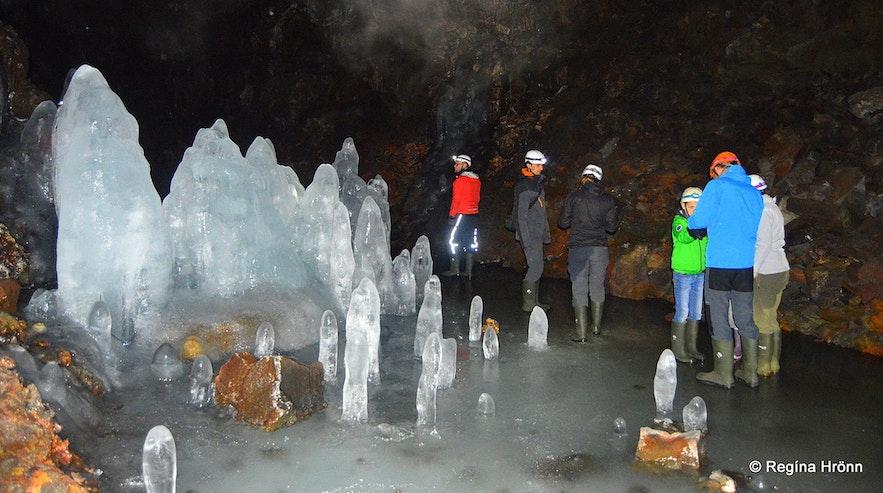 Lofthellir cave in winter.