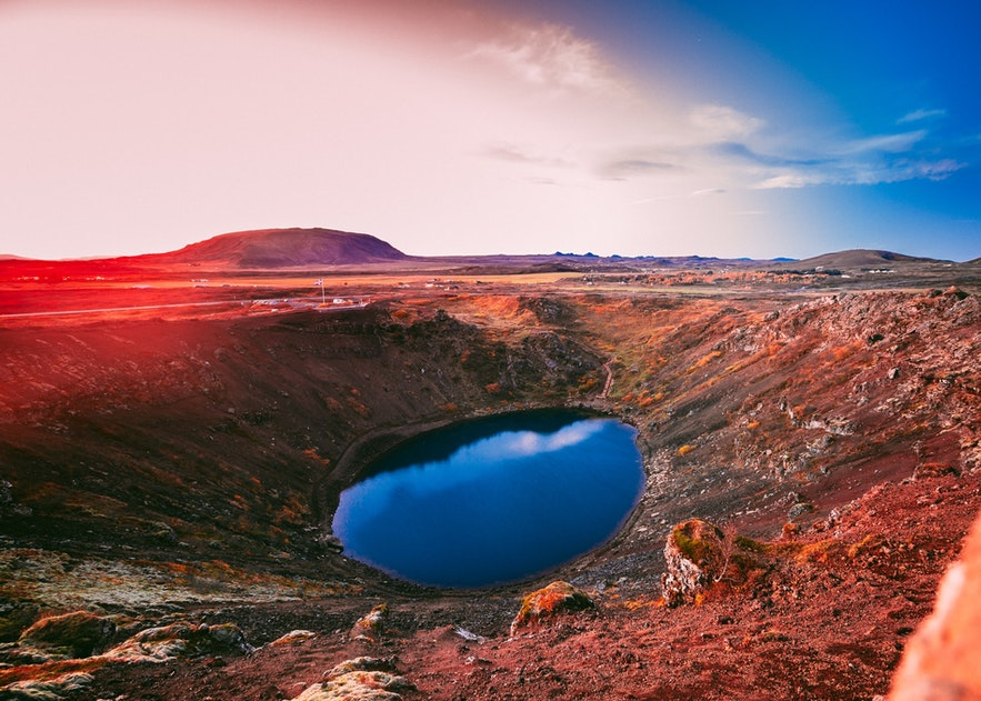 Kerid is a crater lake in south-east Iceland.