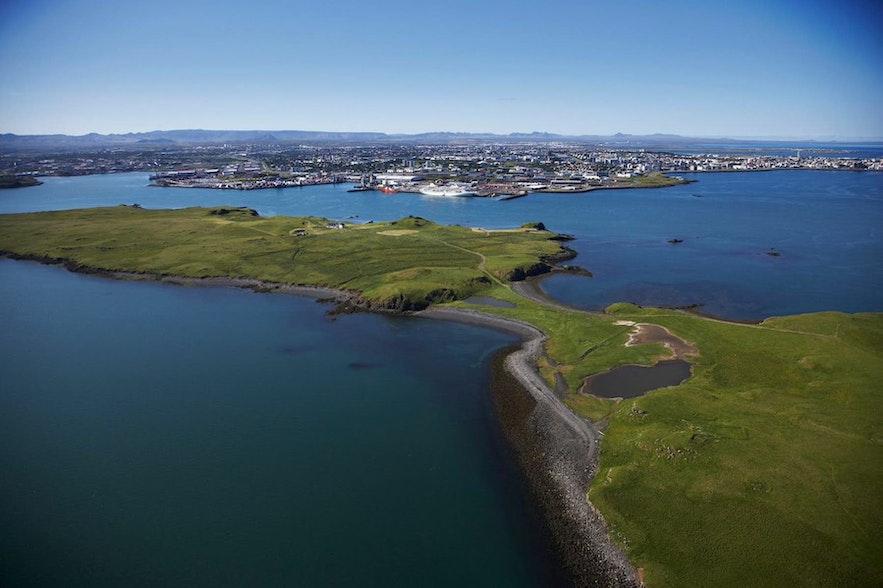 Videy is an island off the coast of Reykjavik.