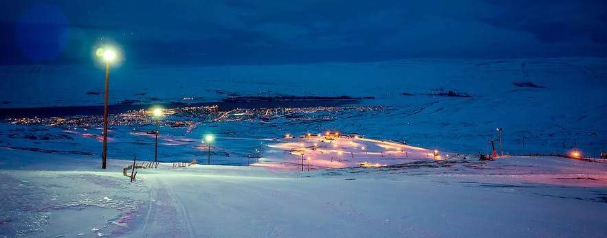 The skiing season in Iceland ends in April.