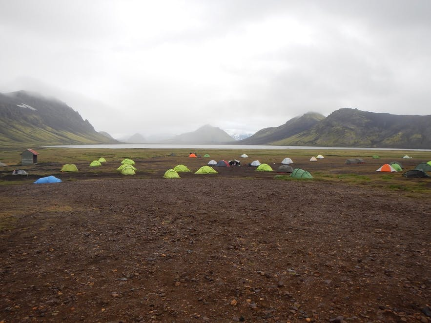 Camping is great fun in May in Iceland.