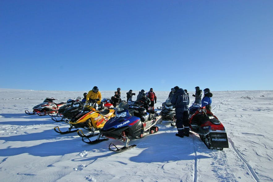 Snowmobiling amidst Icelandic nature is something only a privileged few ever get to experience.