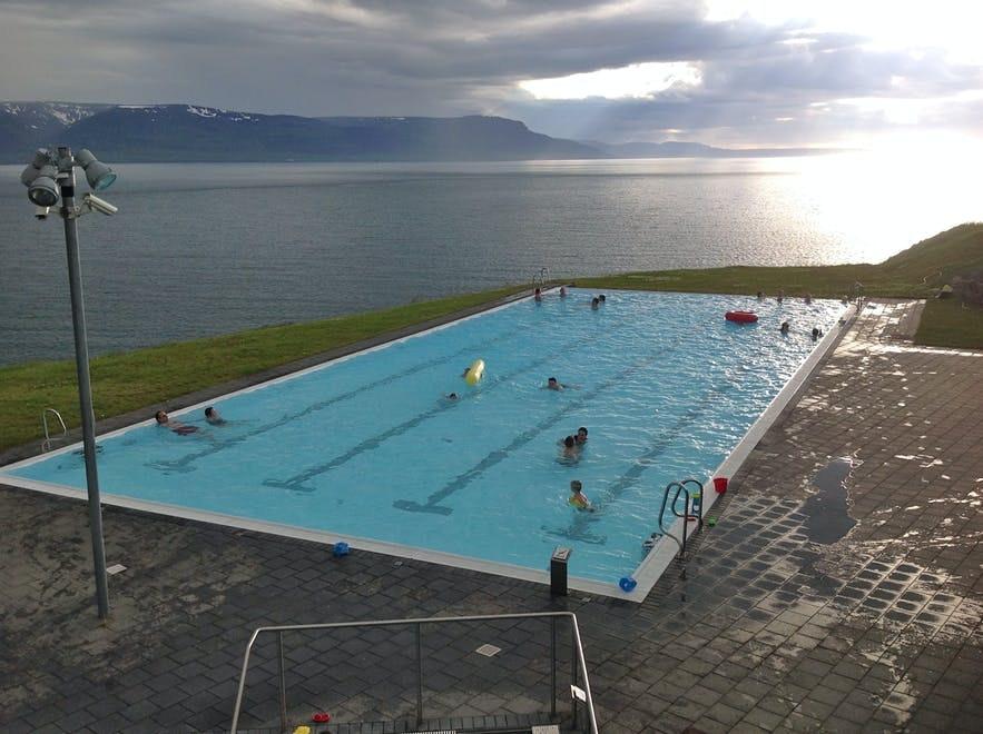 Hofsos is home to the wonderful Infinity Pool.