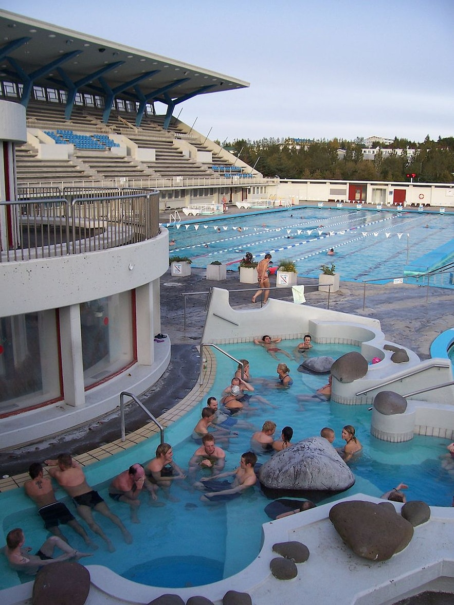 One of Laugardalslaug's hot tubs in Reykjavík