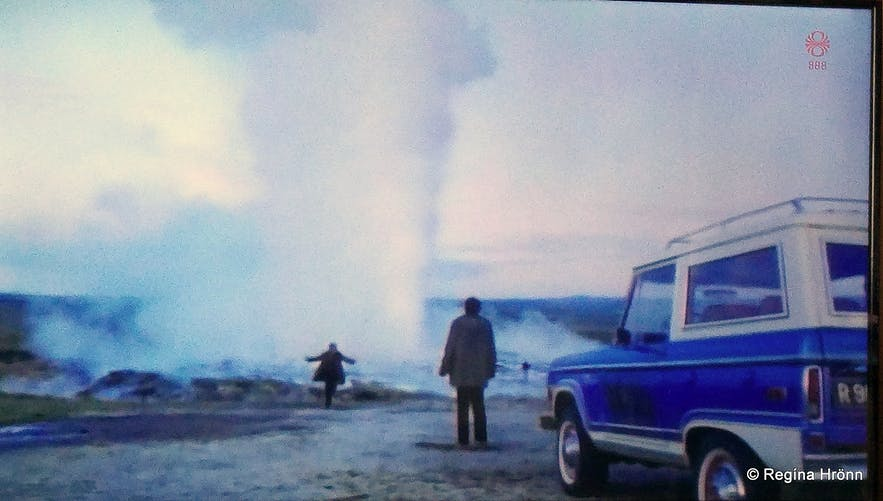 The eruption of Geysir for a film back in 1981
