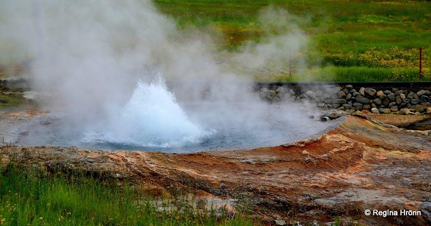 Baðstofuhver at Hveravellir North-Iceland