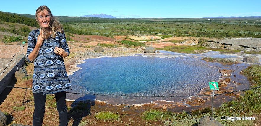 Konungshver hot spring in 2020