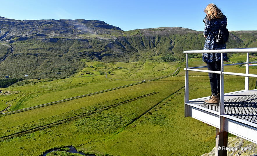 One of the observation platforms on top of Mt. Laugarfjall