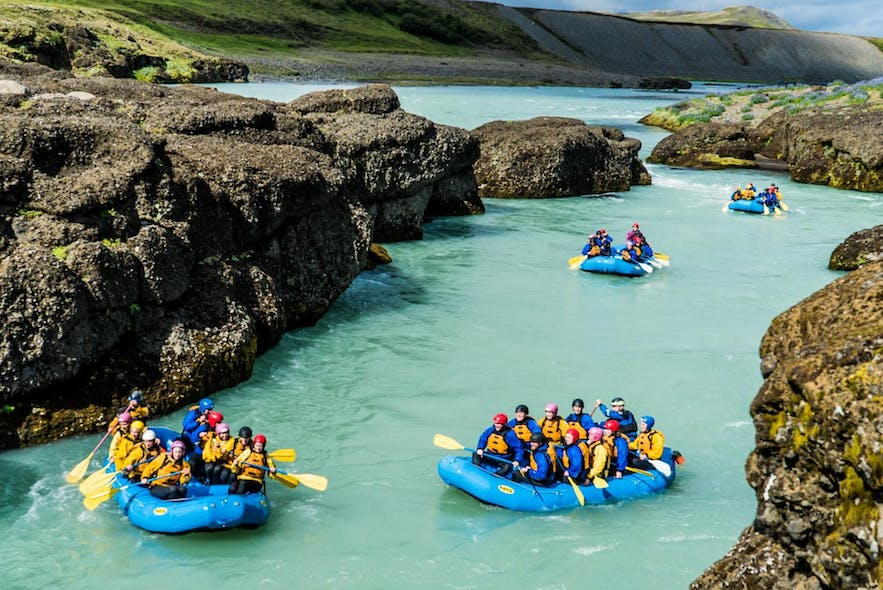 River rafting is a wonderful family activity.