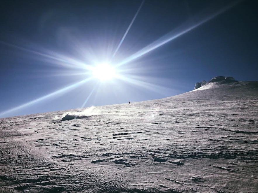 Iceland's glaciers are perfect ski destinations.