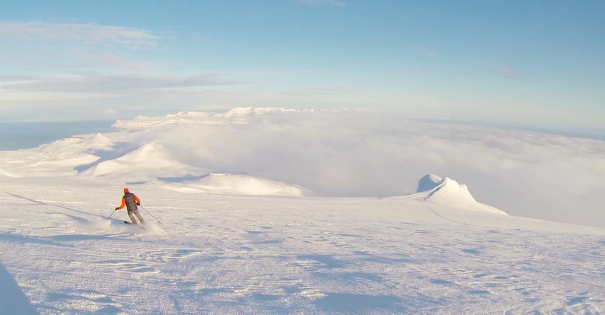 Across Iceland there are many places to ski.