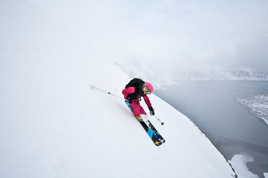 Iceland's winters create prime skiing conditions.