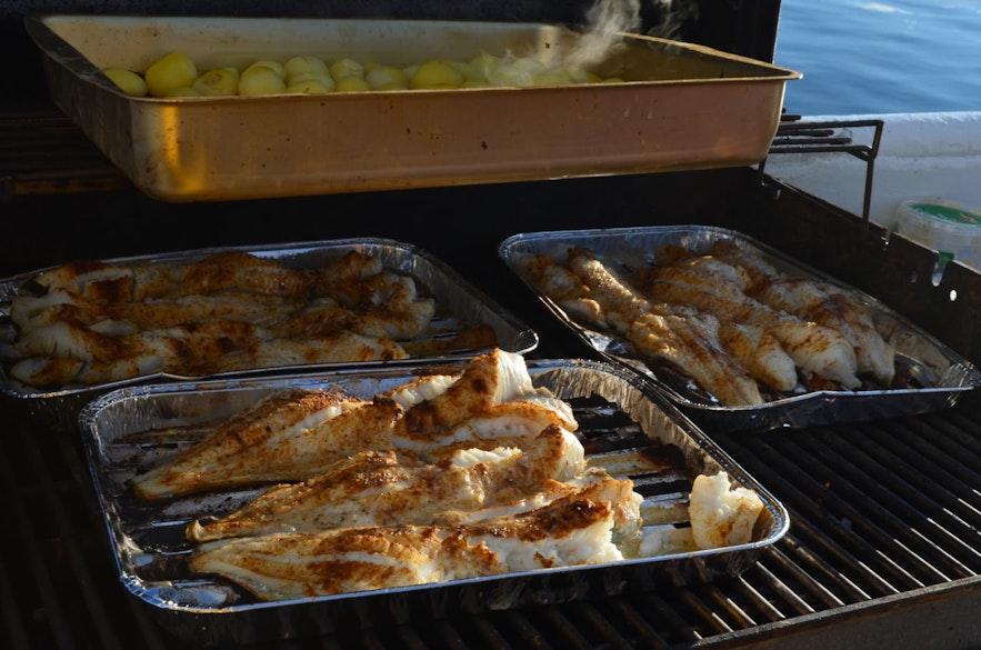 Icelandic fish ready to be eaten.
