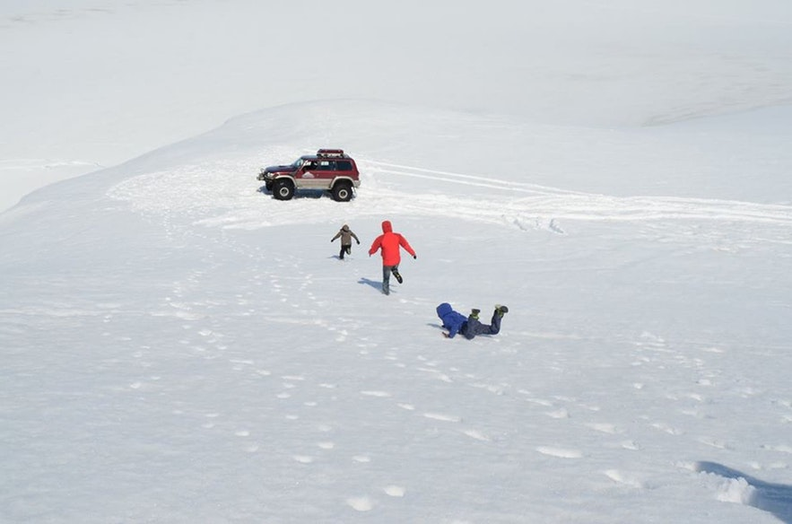 Super jeeps allow guests to explore the glaciers without hiking.