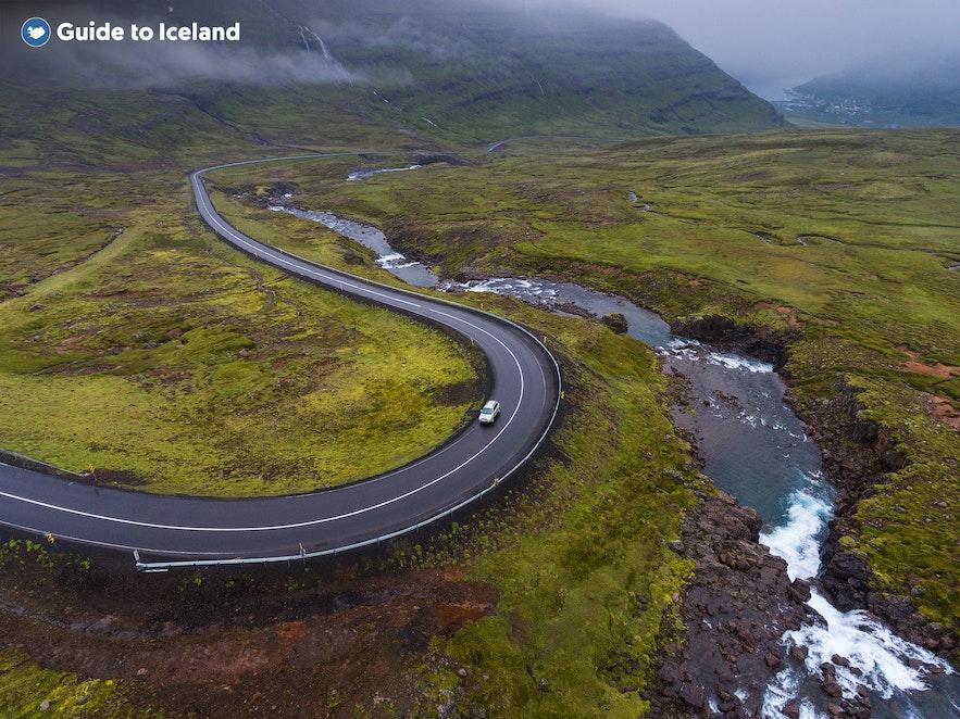 Iceland has many long winding roads.