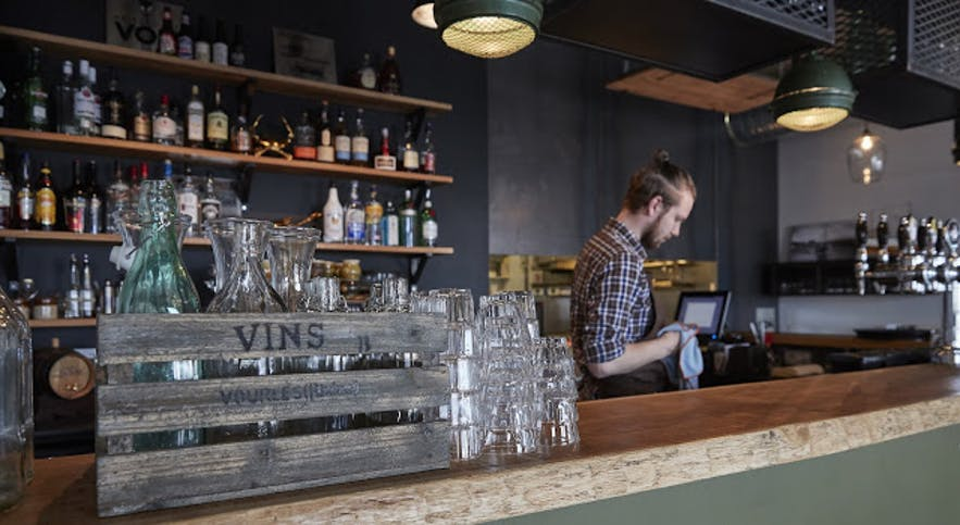 Many of Iceland's restaurants have trendy bars.