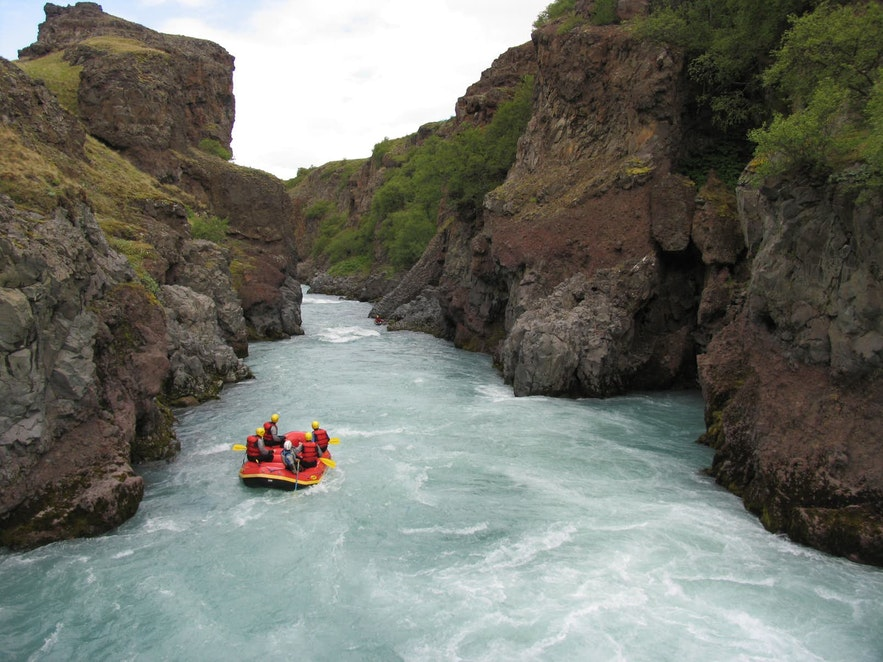 River rafting in Iceland is the perfect mix between heart thumping adventure and incredible natural beauty.