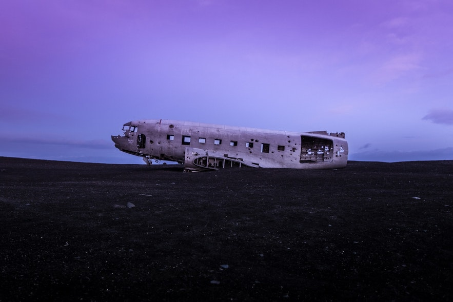 The famed Douglas Dakota DC plane wreck, which crashed in 1973.