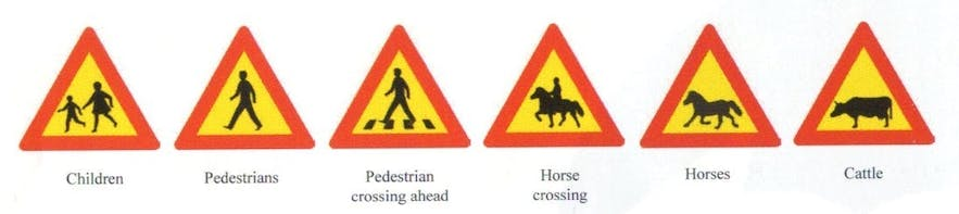 Icelandic Road Signs and Meanings 1