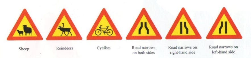 Icelandic Road Signs and Meanings 2