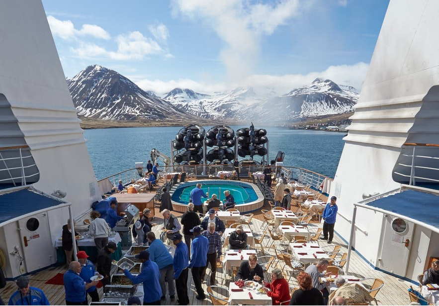 Cruise ships have many facilities.